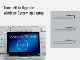 Time Left To Upgrade Windows System On Laptop