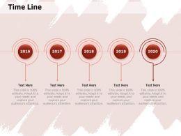 Time Line 2016 To 2020 M296 Ppt Powerpoint Presentation Portfolio Clipart