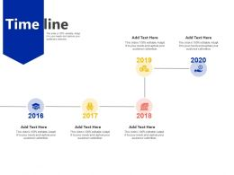 Time Line 2016 To 2020 M4 Ppt Powerpoint Presentation Outline File Formats