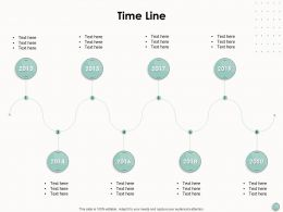 Time Line Eight Stage Process Ppt Powerpoint Presentation Outline Templates