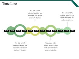 Time Line Powerpoint Slide Graphics