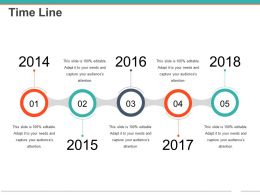 Time Line Powerpoint Slide Ideas Template 1