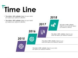 Time Line Ppt Visual Aids Layouts