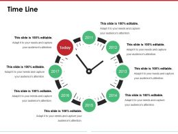 Time Line Presentation Graphics Templates 1