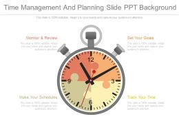 Time Management And Planning Slide Ppt Background