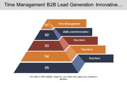 Time Management B2b Lead Generation Innovative Marketing Technology Marketing Cpb