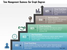 Time Management Business Bar Graph Diagram Powerpoint Template
