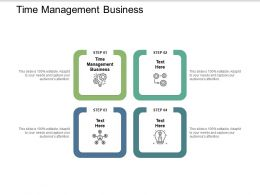 Time Management Business Ppt Powerpoint Presentation Model Master Slide Cpb