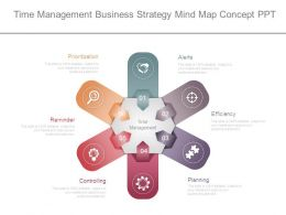 Time Management Business Strategy Mind Map Concept Ppt