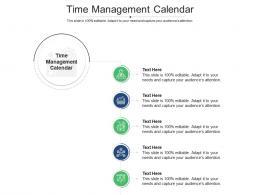 Time Management Calendar Ppt Powerpoint Presentation Model Design Templates Cpb