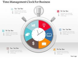 Time Management Clock For Business Flat Powerpoint Design