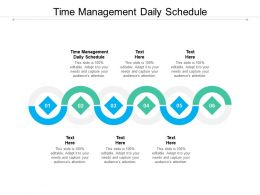 Time Management Daily Schedule Ppt Powerpoint Presentation Inspiration Designs Download Cpb