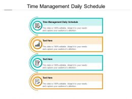 Time Management Daily Schedule Ppt Powerpoint Presentation Slides Graphics Pictures Cpb