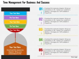 Time Management For Business And Success Flat Powerpoint Design