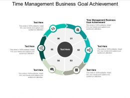 Time Management For Business Goal Achievement Ppt Powerpoint Presentation Inspiration Example Cpb