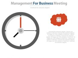 Time Management For Business Meetings Powerpoint Slides