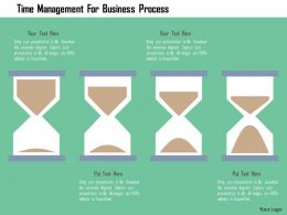Time Management For Business Process Flat Powerpoint Design