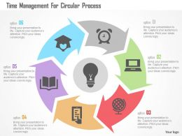 Time Management For Circular Process Flat Powerpoint Design