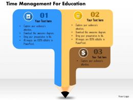 Time Management For Education Flat Powerpoint Design