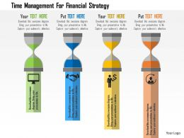 Time Management For Financial Strategy Flat Powerpoint Design