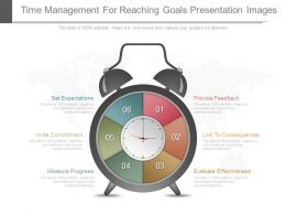 Time Management For Reaching Goals Presentation Images