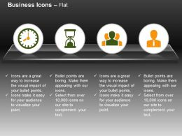 Time Management Hour Glass Leadership Business Person Ppt Icons Graphics