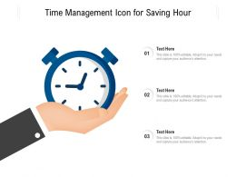 Time Management Icon For Saving Hour