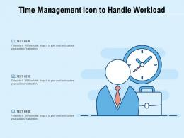 Time Management Icon To Handle Workload
