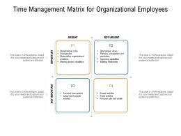Time Management Matrix For Organizational Employees