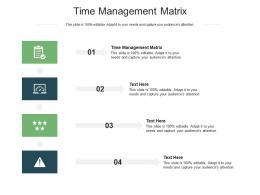 Time Management Matrix Ppt Powerpoint Presentation Slides Aids Cpb