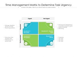 Time Management Matrix To Determine Task Urgency