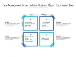 Time Management Matrix To Meet Business Report Submission Date
