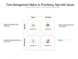 Time Management Matrix To Prioritizing Task With Values