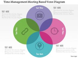 Time Management Meeting Based Venn Diagram Flat Powerpoint Design