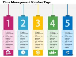 Time Management Number Tags Flat Powerpoint Design