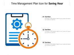 Time Management Plan Icon For Saving Hour