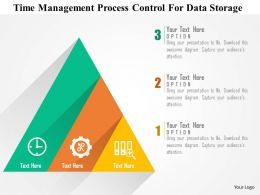 Time Management Process Control For Data Storage Flat Powerpoint Design