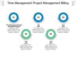 Time Management Project Management Billing Ppt Powerpoint Presentation Gallery Templates Cpb