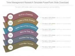 Time Management Research Template Powerpoint Slide Download