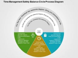 time_management_safety_balance_circle_process_diagram_flat_powerpoint_design_Slide01
