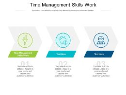 Time Management Skills Work Ppt Powerpoint Presentation Icon Images Cpb