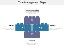 Time Management Steps Ppt Powerpoint Presentation Inspiration Clipart Cpb