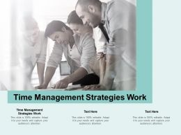 Time Management Strategies Work Ppt Powerpoint Presentation Professional Picture Cpb