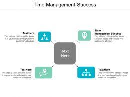Time Management Success Ppt Powerpoint Presentation Infographics Brochure Cpb
