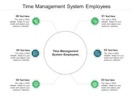 Time Management System Employees Ppt Powerpoint Presentation Styles Aids Cpb