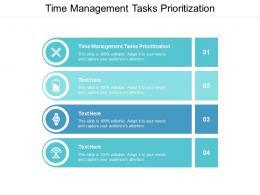 Time Management Tasks Prioritization Ppt Powerpoint Presentation Portfolio Skills Cpb