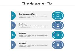 Time Management Tips Ppt Powerpoint Presentation Model Slide Download Cpb