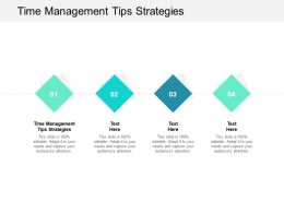 Time Management Tips Strategies Ppt Powerpoint Presentation Layouts Clipart Images Cpb