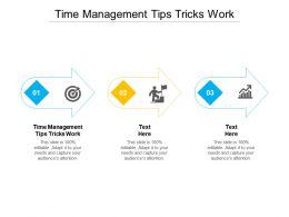 Time Management Tips Tricks Work Ppt Model Background Images Cpb