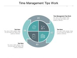 Time Management Tips Work Ppt Powerpoint Presentation Gallery Styles Cpb